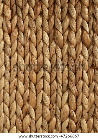 African Woven Basket texture vertical - stock photo