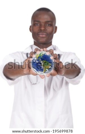 african young doctor - stock photo