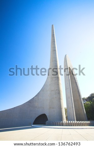 Afrikaans Language Monument in Western Cape, South Africa