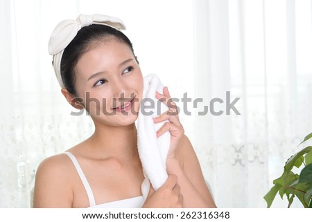 After a shower - stock photo