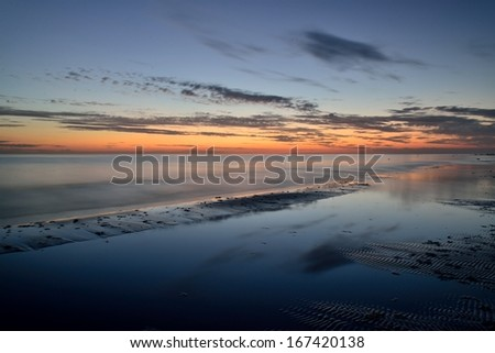 After sunset - stock photo