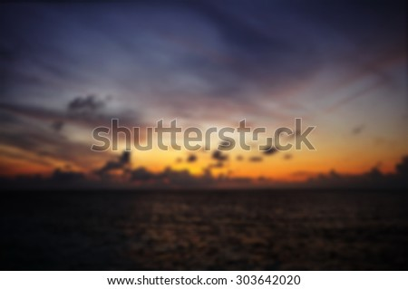 after sunset sky in blur focus.