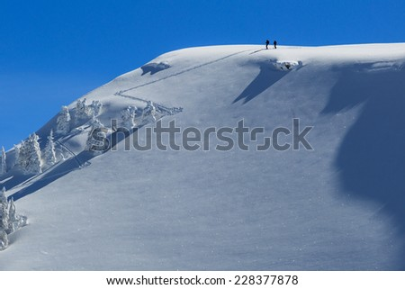 after the hike - stock photo