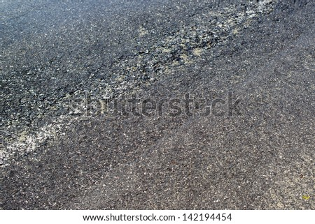 After the rain, closeup of wet pathway - stock photo