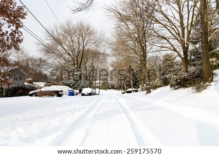 After the Storm - Snowy Street - stock photo