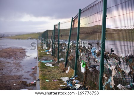 Aftermath of a storm, Ireland. - stock photo