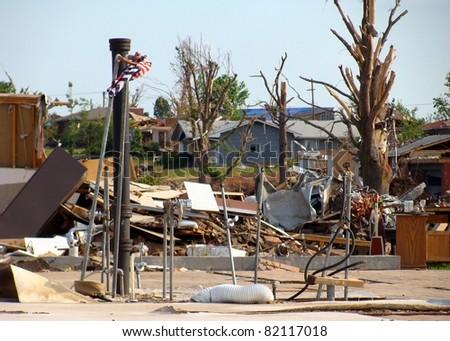 Aftermath of Joplin Missouri Tornado - stock photo