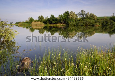 Afternoon on the lake - stock photo
