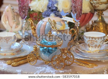 Cinderella coach stock images royalty free images Cinderella afternoon tea