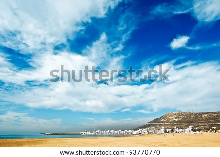 Agadir sand beach, Morocco - stock photo