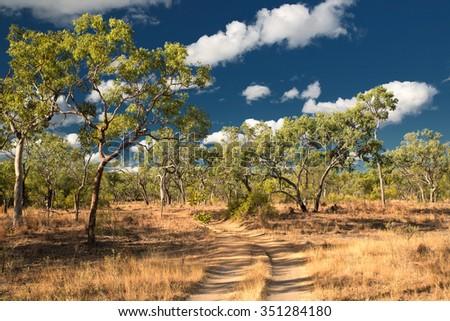Agate Creek Fossicking Area, near Forsayth, North Queensland, Australia - stock photo
