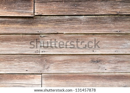 Aged boards from an old warehouse. - stock photo