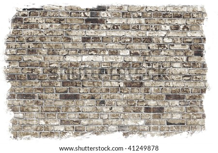 Aged brick wall texture: can be used as background