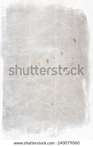 Aged cement wall texture with border - stock photo