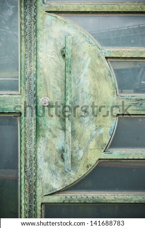 aged copper door
