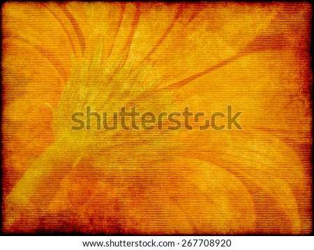 aged elegance flower paper texture for your message  - stock photo