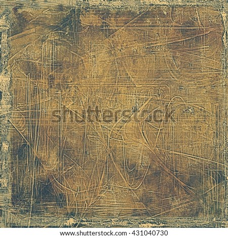 Aged grunge graphic background with shabby texture in vintage style and different color patterns: yellow (beige); brown; gray; black - stock photo