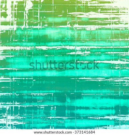 Aged grunge texture. With different color patterns: white; blue; cyan; green - stock photo