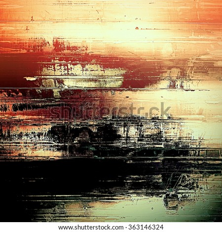Aged grunge texture. With different color patterns: yellow (beige); brown; black; gray; red (orange)