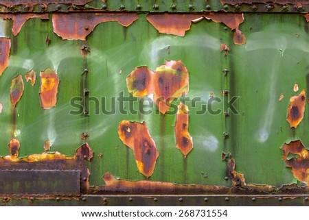 Aged Industrial rusty worn metal closeup photo - stock photo