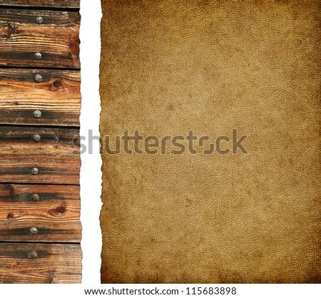 Aged leather background - stock photo