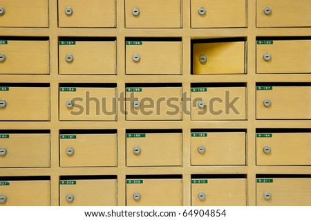aged mailboxes - stock photo