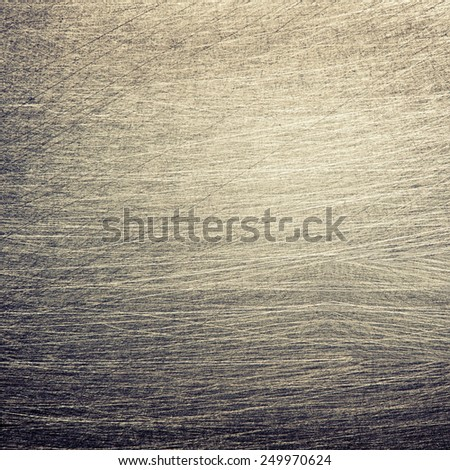 Aged metal plate, scratched texture, abstract background - stock photo
