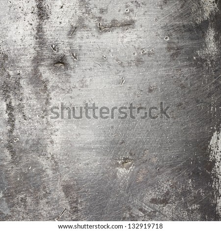 Aged metal texture. Old iron background. - stock photo