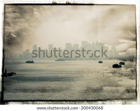 Aged NY  - stock photo