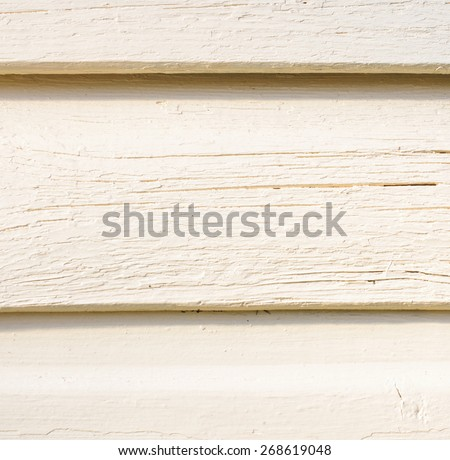Aged obsolete painted wood wall surface background - stock photo