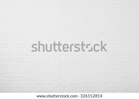 aged paint white brick wall background  - stock photo