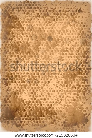 aged paper with burned edges - stock photo