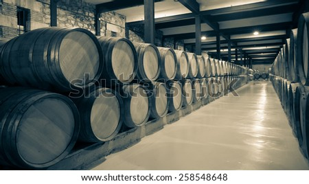 Aged photo of old  winery  - stock photo