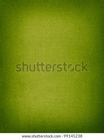 Aged rough big size green paper background with empty space and dark borders - stock photo