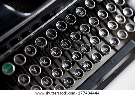 Aged typwriter keys or buttoms - stock photo