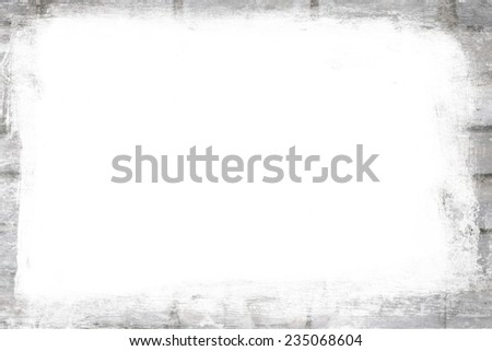 Aged wall frame - stock photo