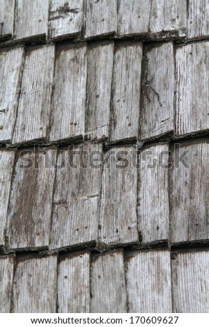 Aged wood roof tiles