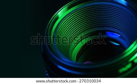 Agency, alarm, aperture. - stock photo