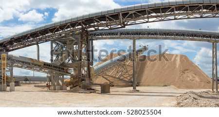 Aggregate and conveyors.