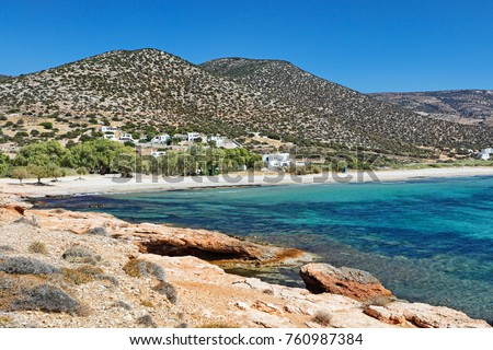 Agiassos beach in Naxos island, Greece