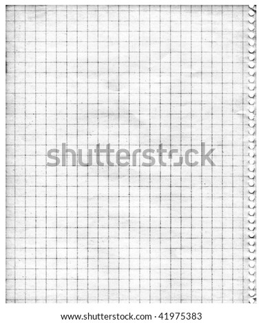 Aging graph paper - stock photo