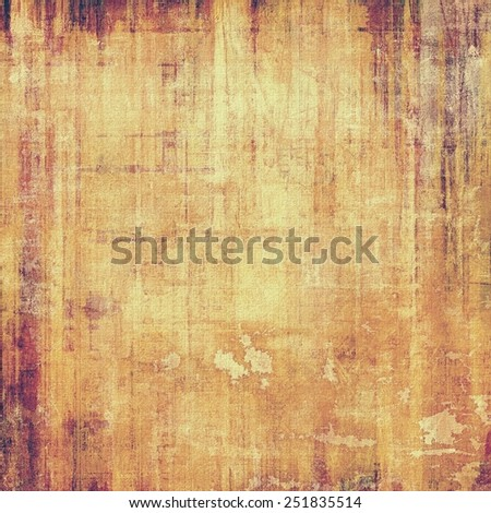 Aging grunge texture designed as abstract old background. With different color patterns: yellow (beige); brown; purple (violet) - stock photo