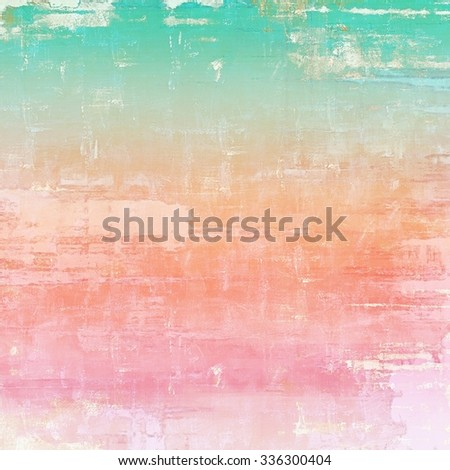 Aging grunge texture designed as abstract old background. With different color patterns: yellow (beige); red (orange); blue; pink - stock photo