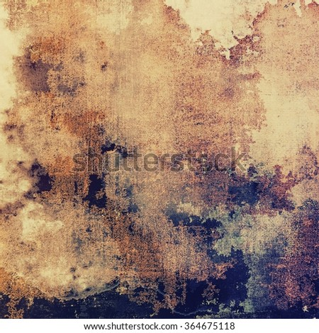 Aging grunge texture designed as abstract old background. With different color patterns: yellow (beige); brown; blue; purple (violet); gray