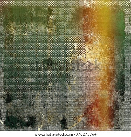 Aging grunge texture designed as abstract old background. With different color patterns: yellow (beige); brown; green; gray; red (orange) - stock photo