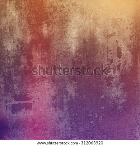Aging grunge texture, old illustration. With different color patterns: brown; red (orange); pink; purple (violet) - stock photo