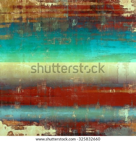 Aging grunge texture, old illustration. With different color patterns: yellow (beige); brown; blue; red (orange) - stock photo