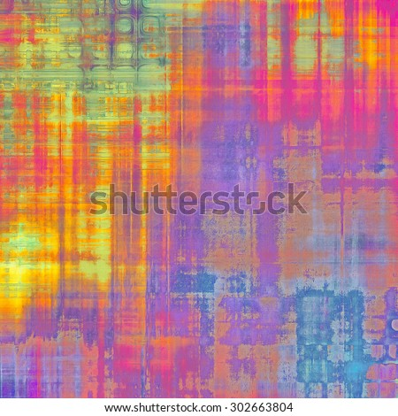 Aging grunge texture, old illustration. With different color patterns: yellow (beige); red (orange); purple (violet); blue; green - stock photo