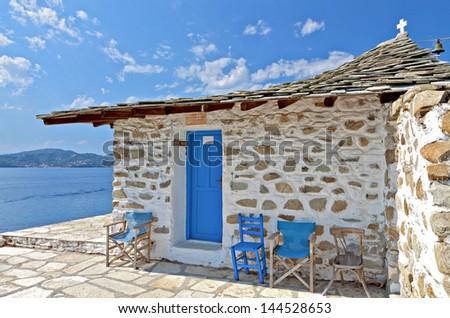 Одноэтажный дом в остров Скиатос