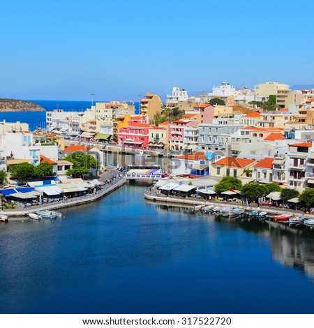 Agios Nikolaos, Crete island in Greece.
